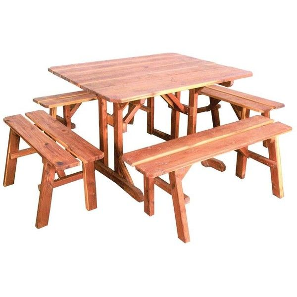 Amish Wood Picnic Table Outdoor Wood Furniture Amish Outdoor