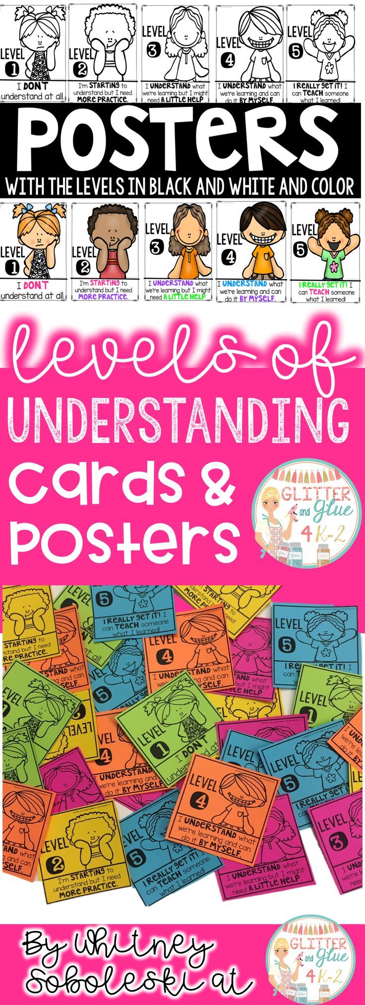 Levels of understanding includes cards and posters