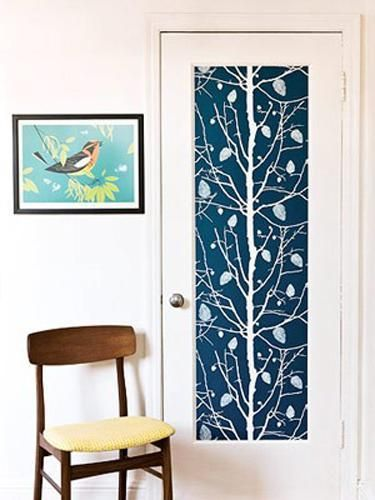 30 Creative Interior Door Decoration Ideas Personalizing Home Interiors Wallpaper Project Colorful Interiors Diy Wallpaper