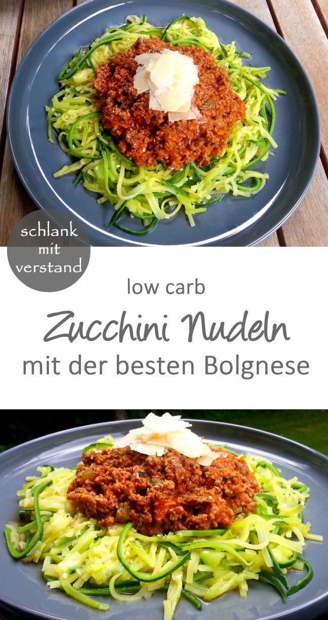 Zucchini Pasta Bolognese  niedrige carb    Low Carb