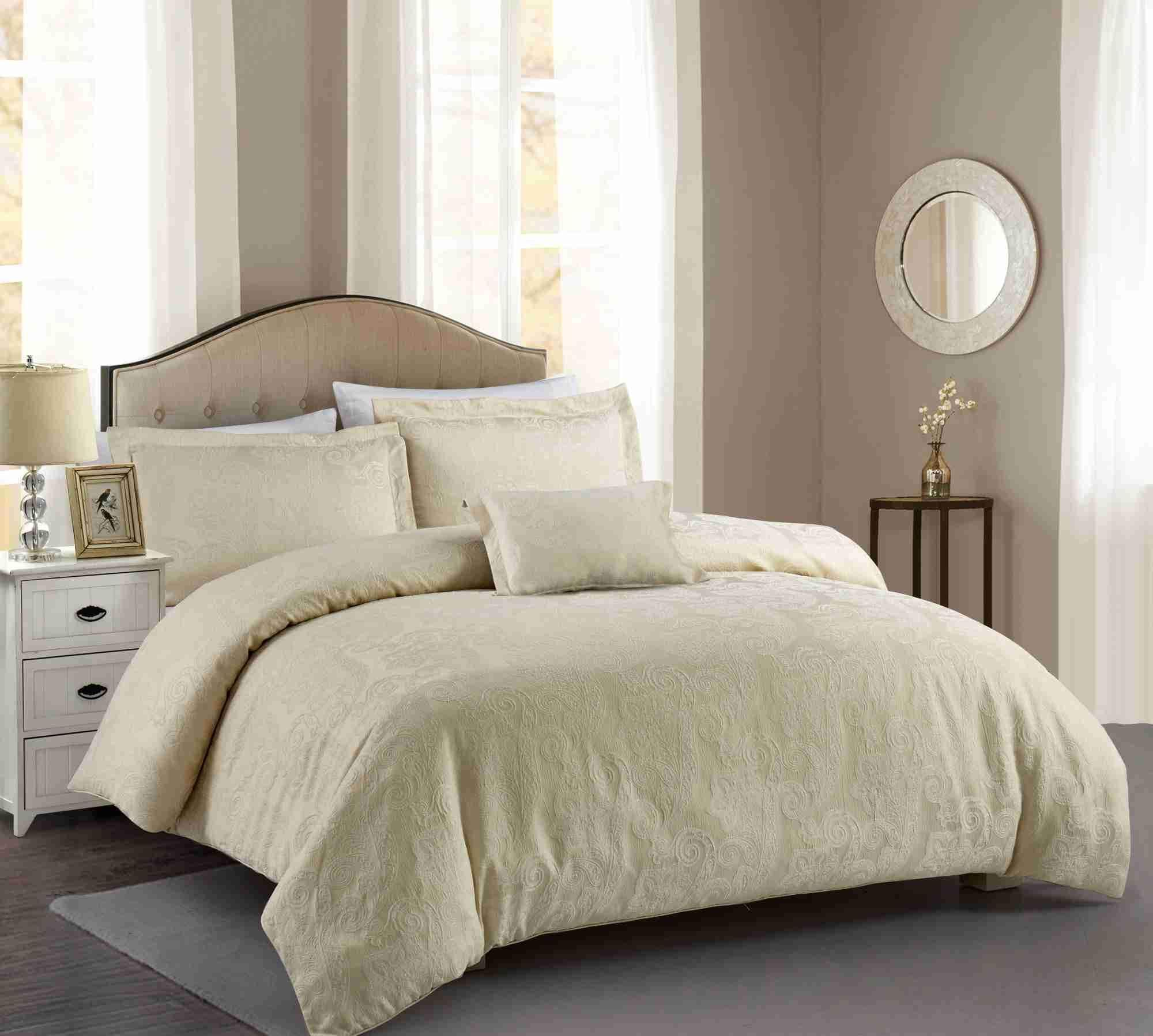 Hotel Paisley Luxe Woven Jacquard Comforter Set Comforter Sets Duvet Cover Sets Taupe Comforter