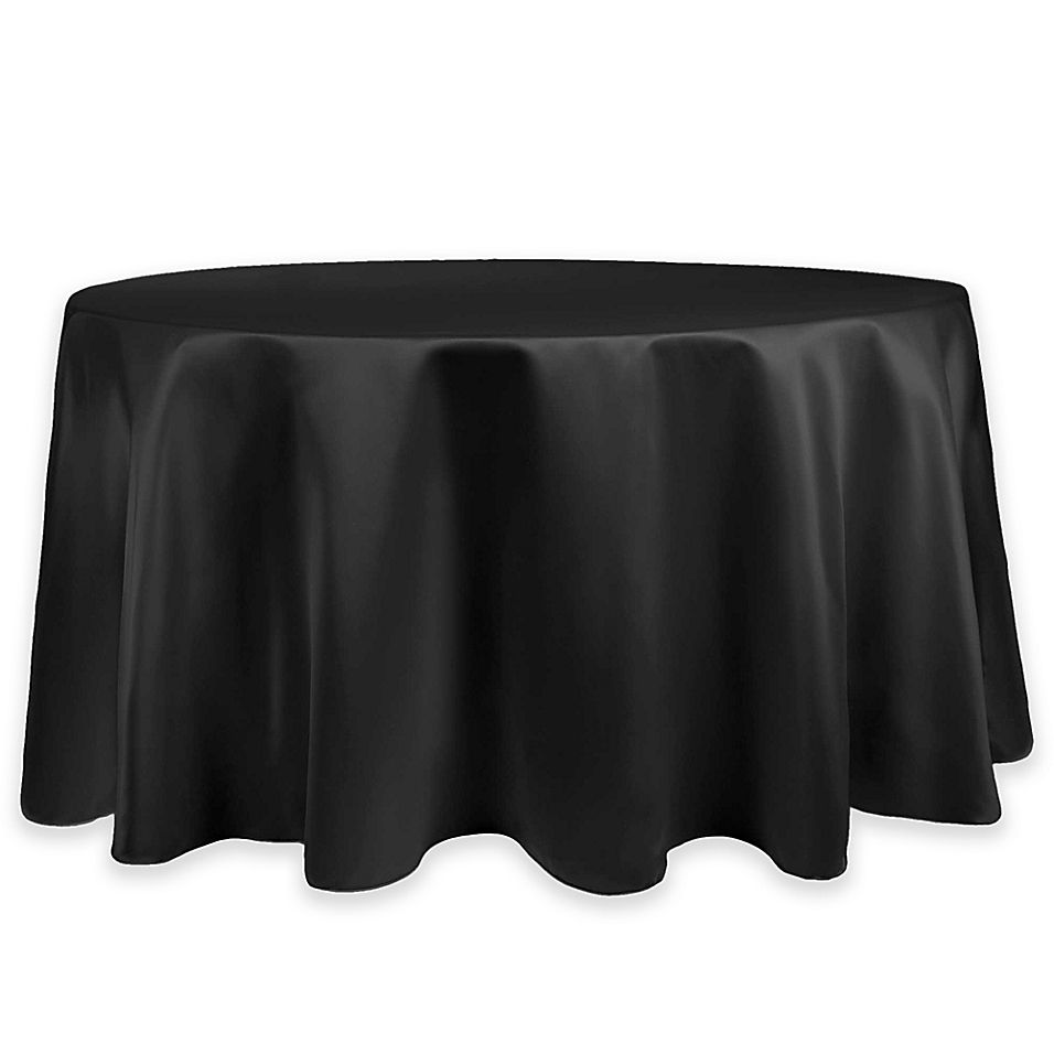 Duchess Lamour Satin 60 Round Tablecloth In Black Round Tablecloth 90 Round Tablecloths 120 Round Tablecloth