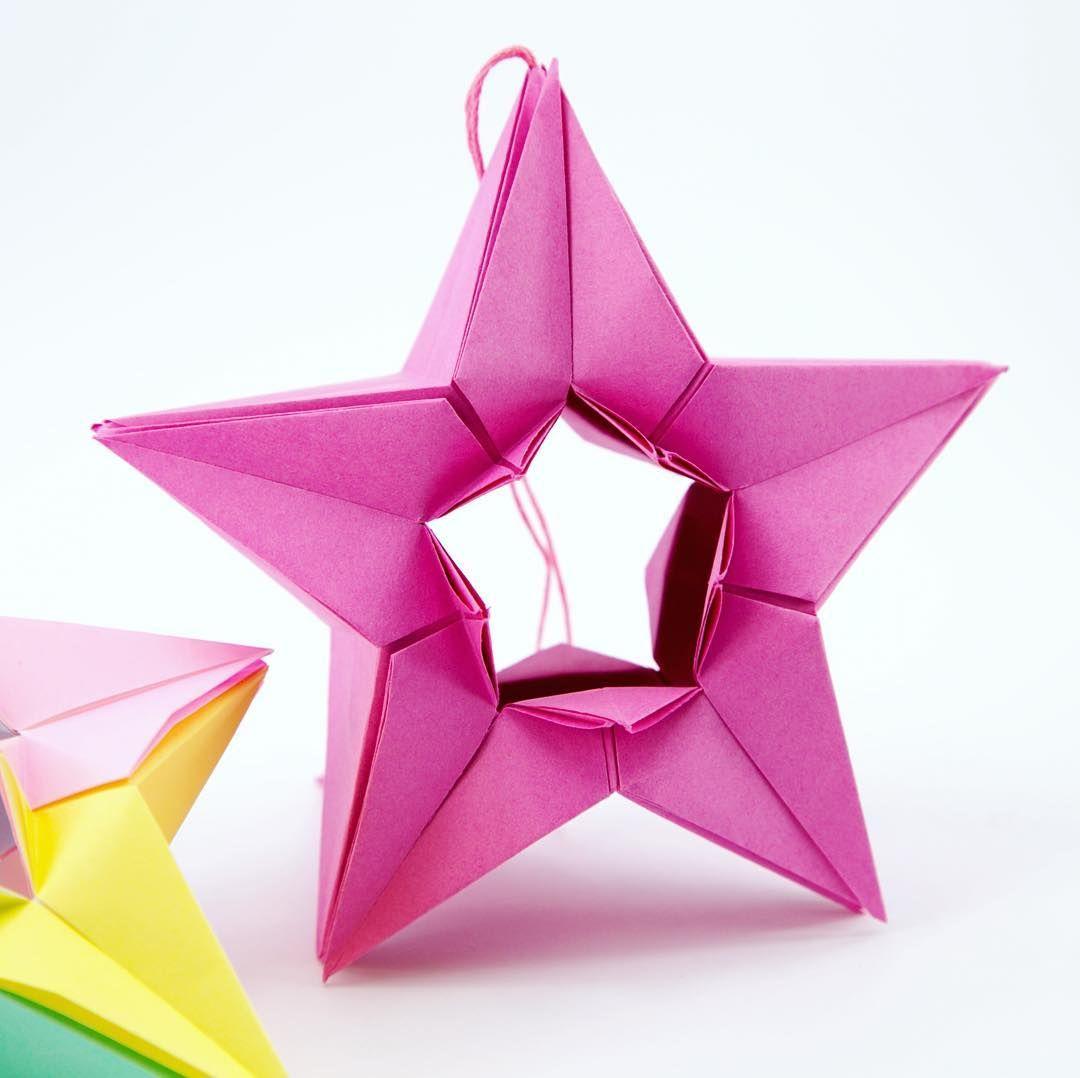 Modular origami star by @izirta tutorial linked in my bio ... - photo#48
