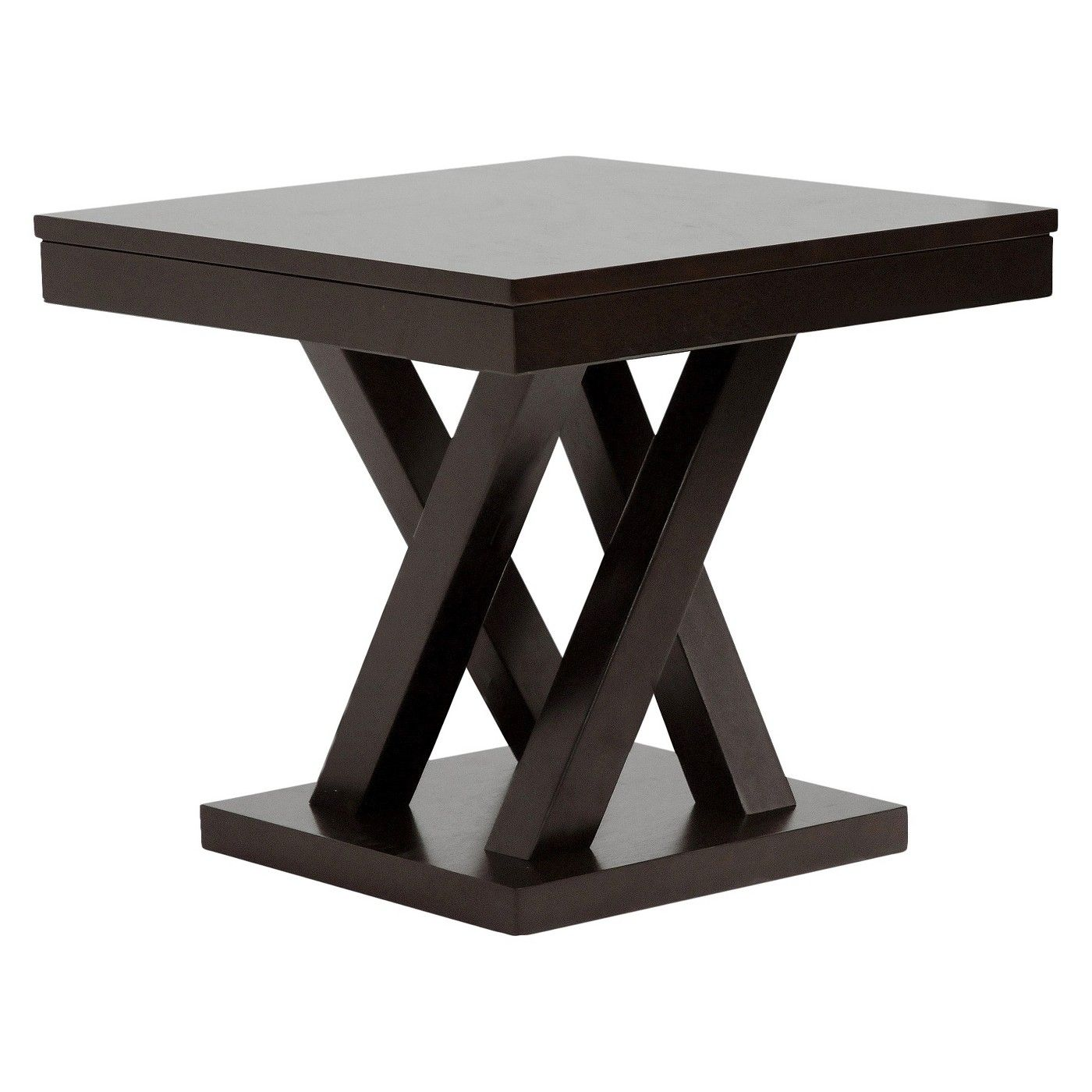 Everdon Modern End Table Dark Brown Baxton Studio Modern End Tables End Tables Pub Table Sets [ 1400 x 1400 Pixel ]
