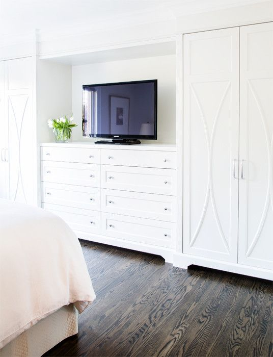 Built in dresser with tv | Built in dresser, Build a closet ...