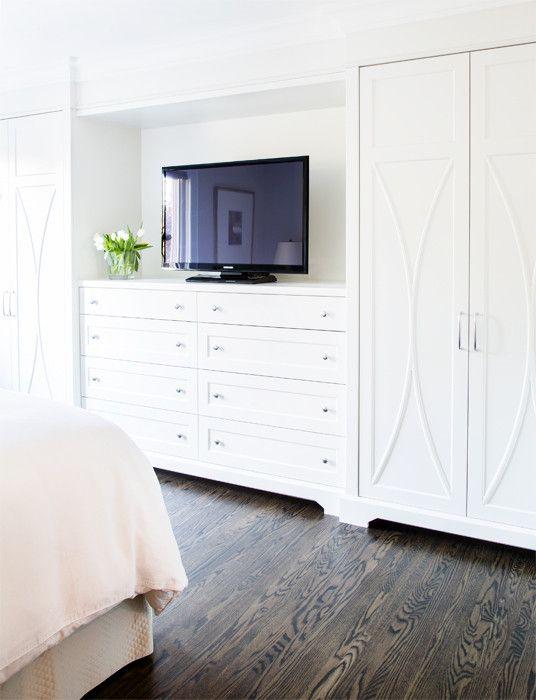 Built In Dresser With Tv Built In Dresser Build A Closet