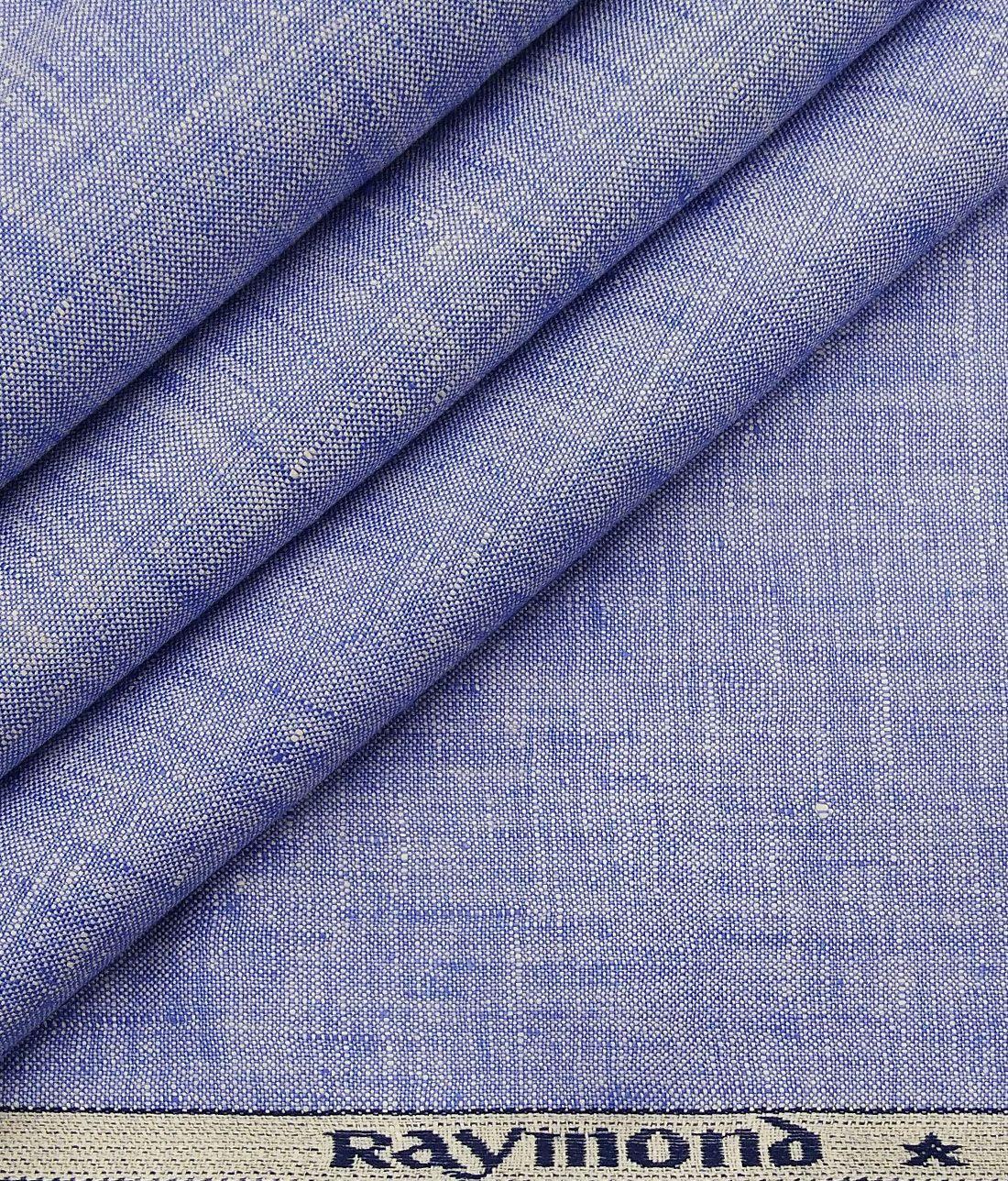Raymond Men S Sky Blue 100 Pure Linen Self Unstitched Suiting Fabric Pure Linen Suit Fabric Pure Products