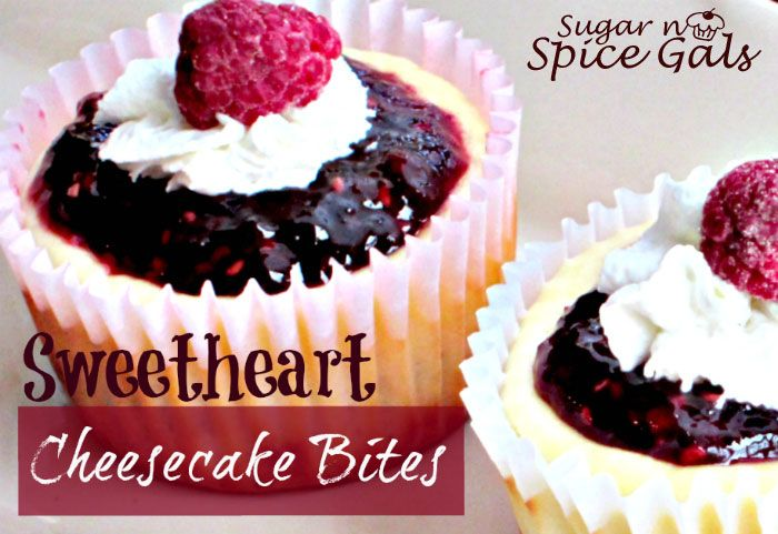 Spice Gals: Sweetheart Cheesecake Bites
