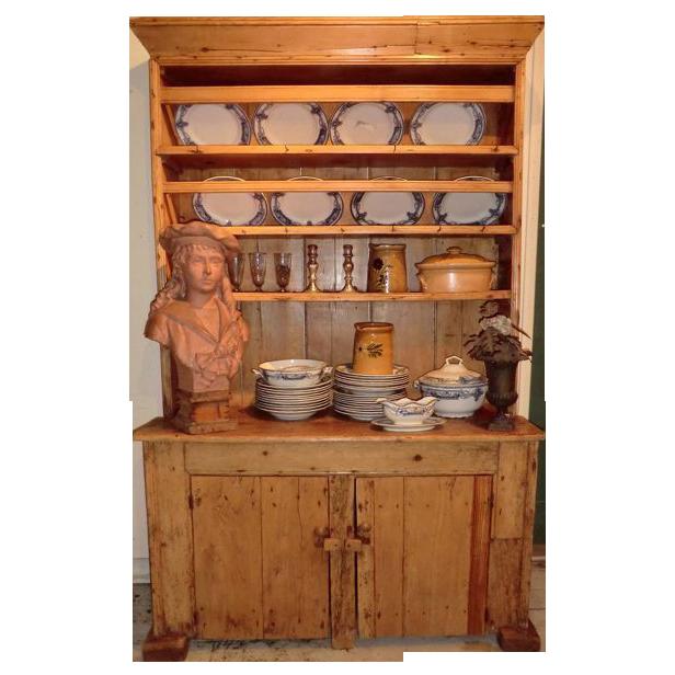 Irish Dresser Fabulous Small Pine Mid Nineteenth Century