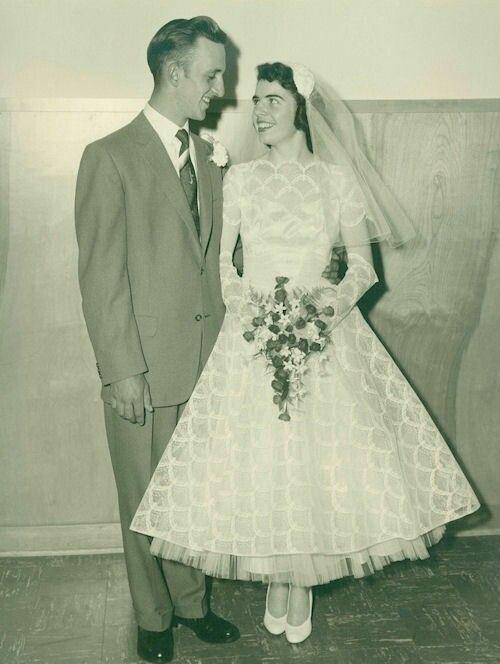 1950\'s bride and groom! | Vintage | Pinterest | Vintage hochzeit und ...