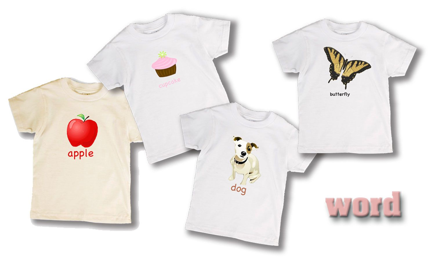 Nothing like a great cotton learning tee to learn the words. Apple anyone?