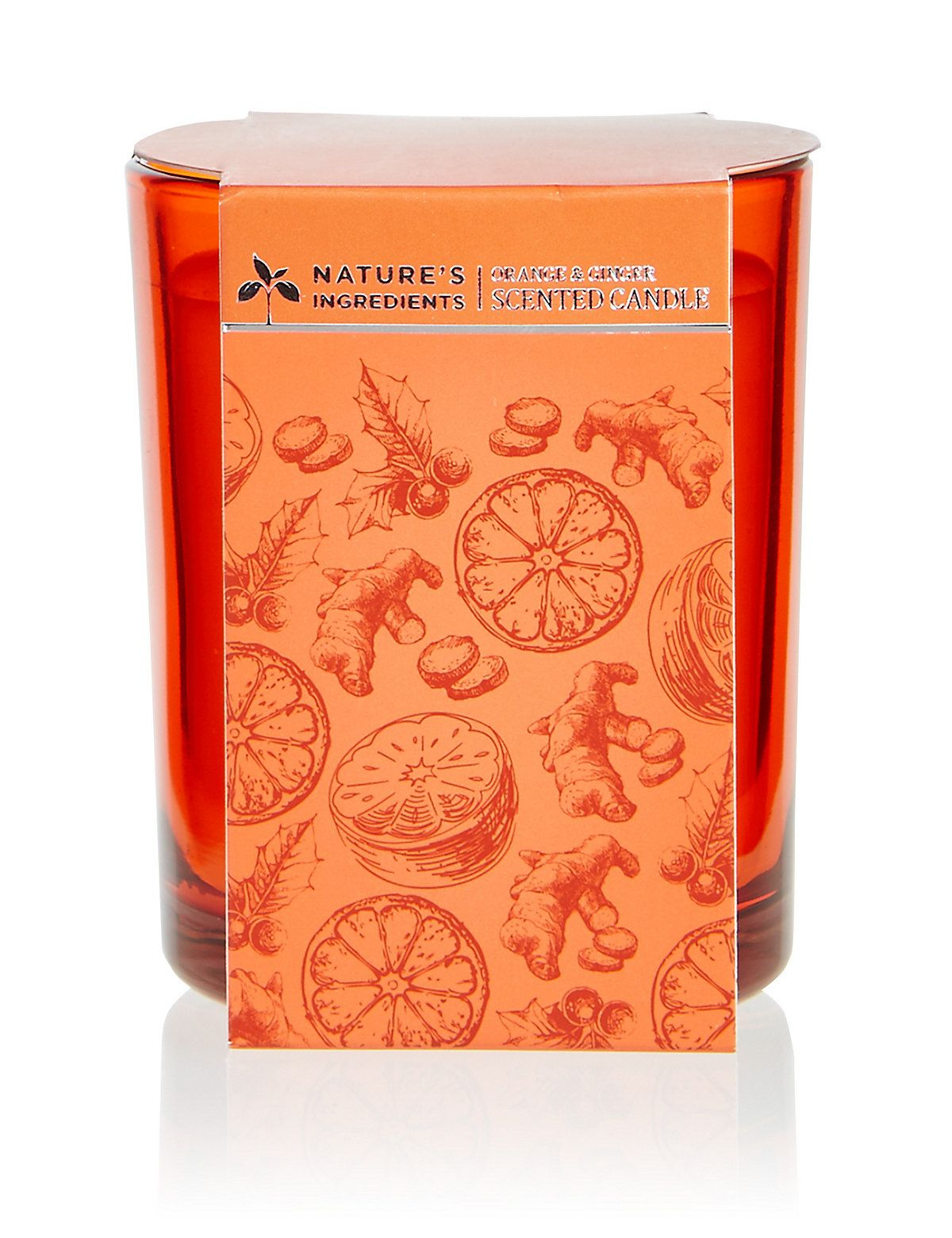 Orange & Ginger Candle 170g Candles, Christmas candles