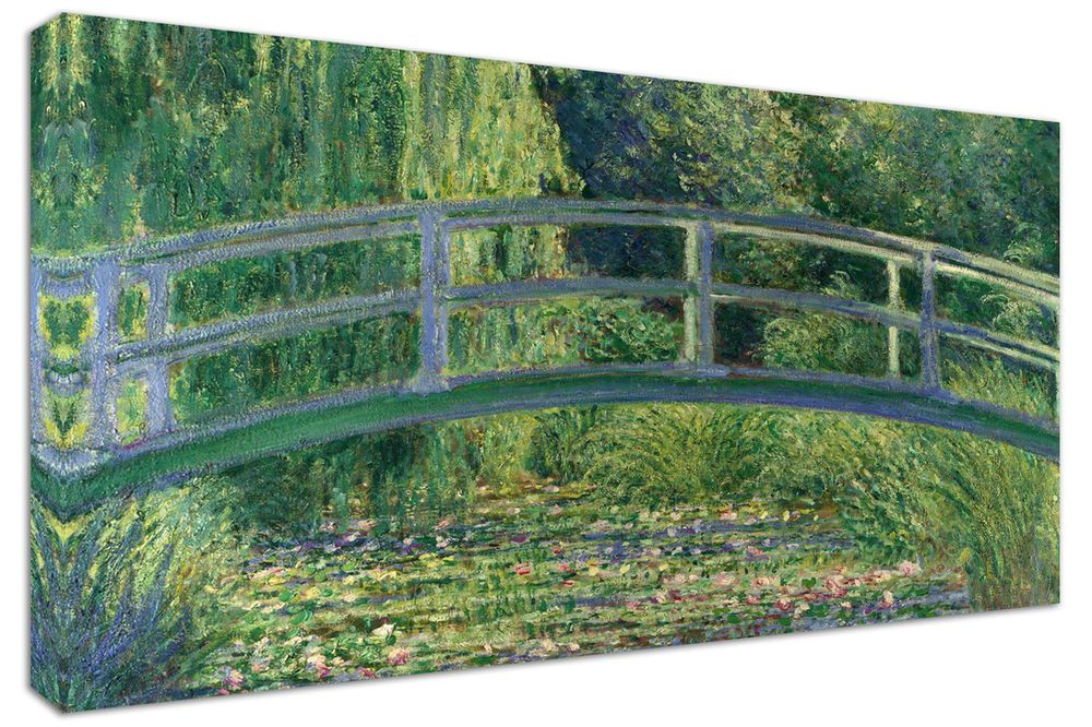 Quadro moderno arredamento monet giardino ponte arte arredo casa