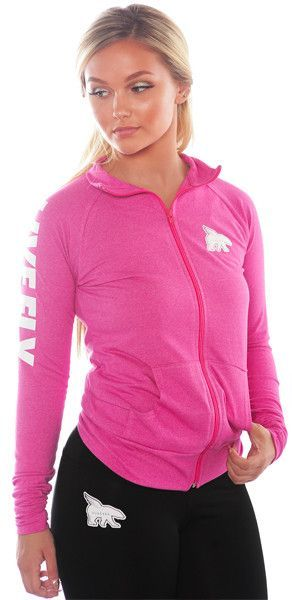 LIVE FLY. Fitted Spirit Zip-Up Jacket: Pink