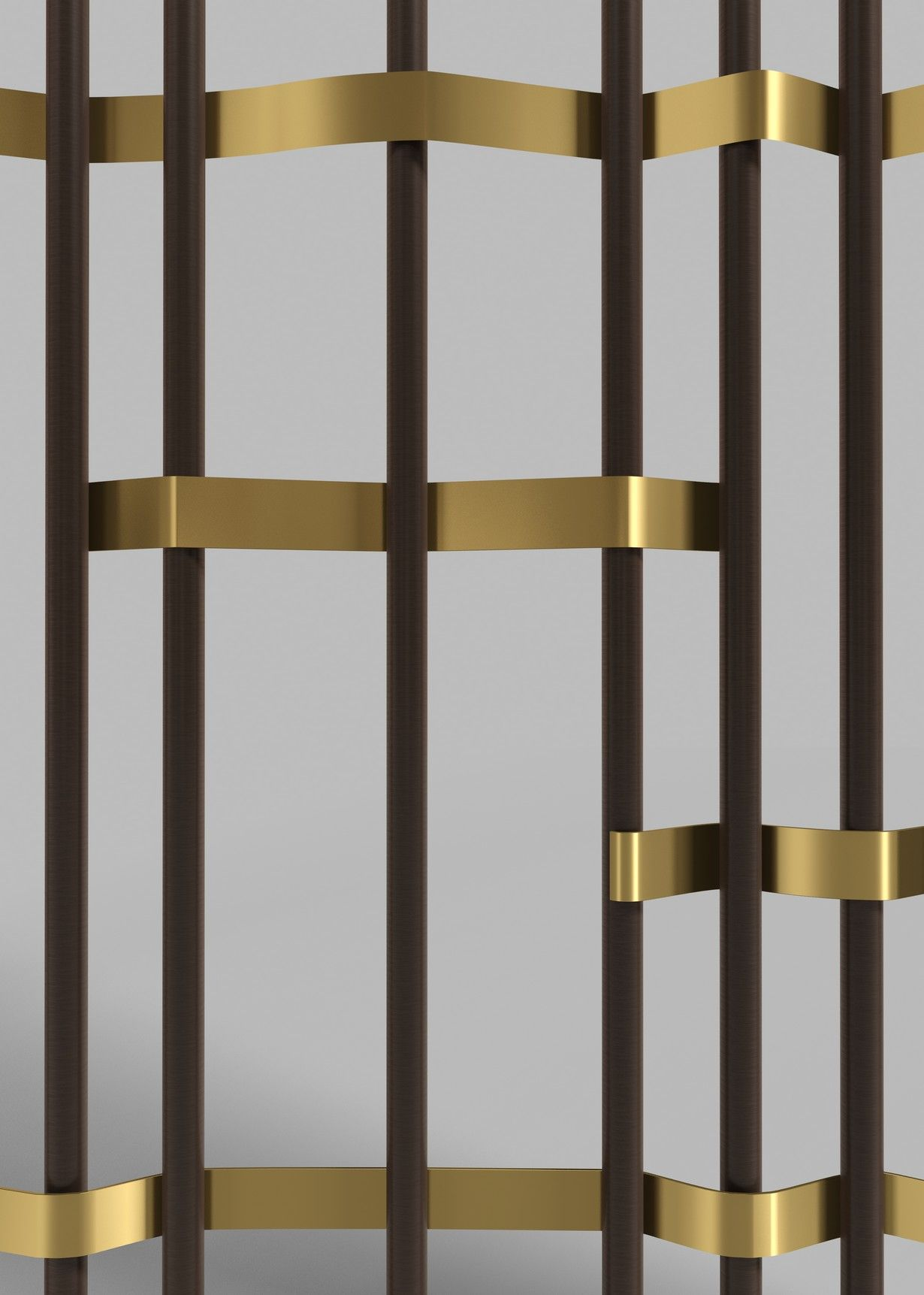 Beautiful Railing Detail In Bronze And Brass Details