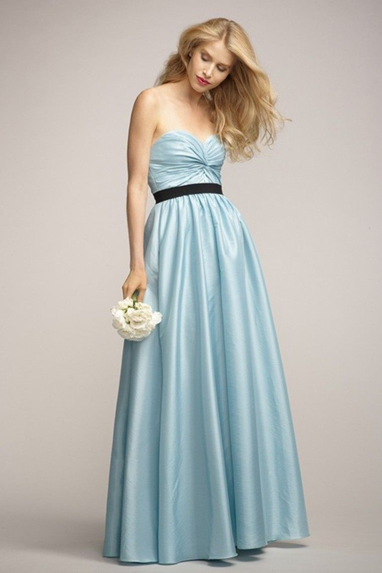 Buy Sweetheart Twist Detail Bodice Shirred Floor Lenth Skirt Ribb ...