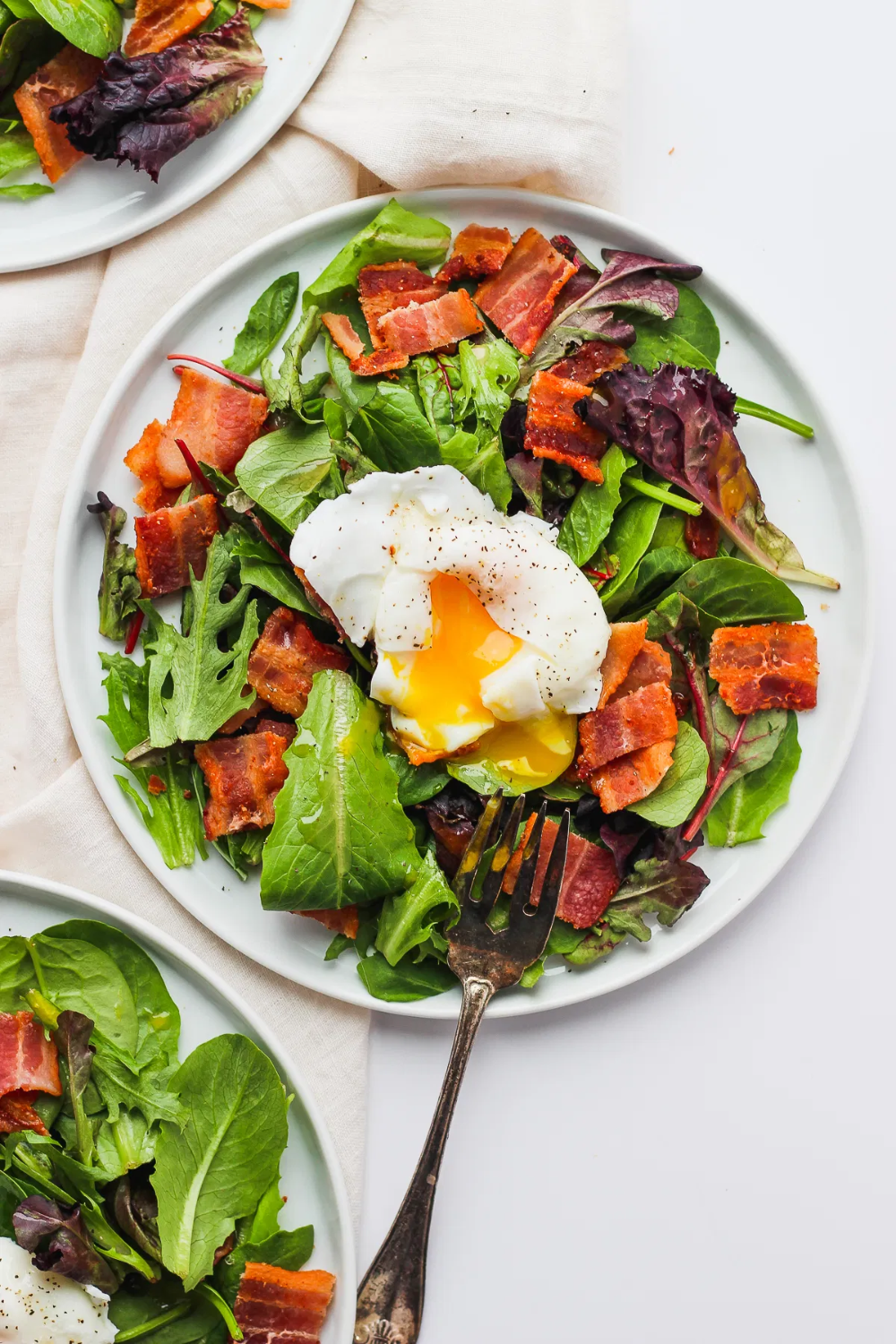Whole30 Breakfast Salad with Poached Egg  The Wooden Skillet