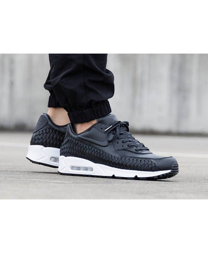Nike Air Max 90 Woven Black White Sale | Nike air max, Nike