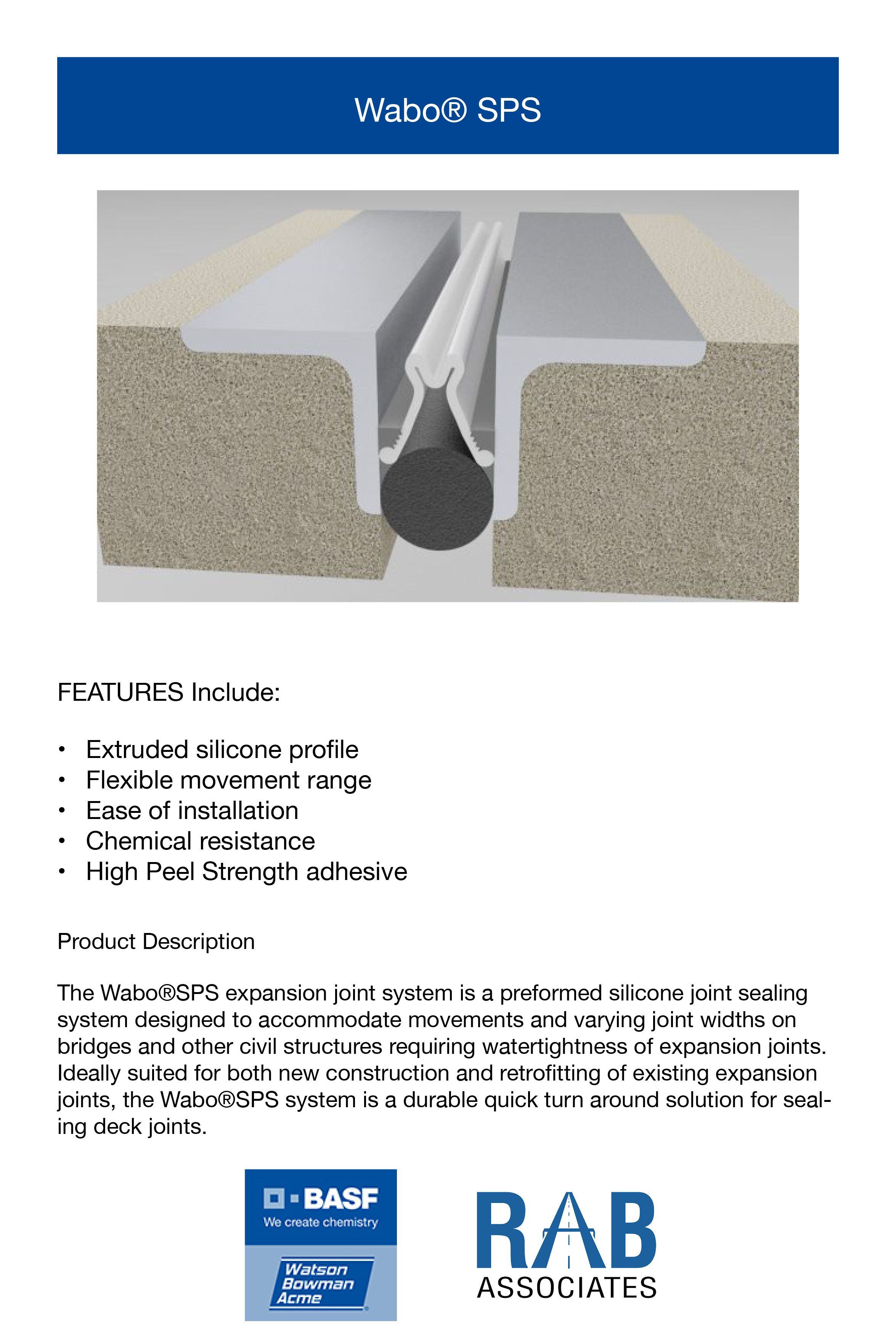 Silicone Bridge Expansion Joint Sealing System Product Launch Specification Data Sheet And Technical