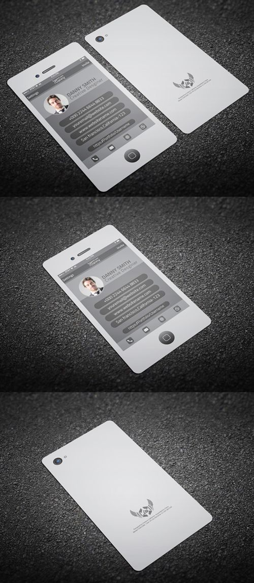 Iphone Style Business Card