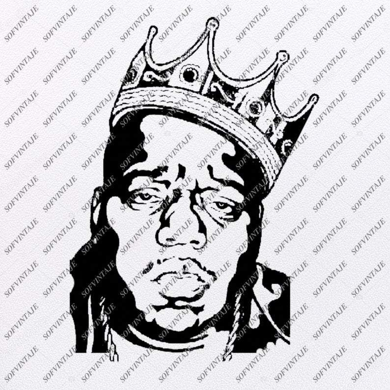The Notorious B I G Svg File Biggie Smalls Svg Design Clipart Actor Svg File Music Png Vector Graphics Svg For Cricut For Silhouette Svg Eps Pdf Dxf P Biggie Smalls Vector Graphics Svg Design