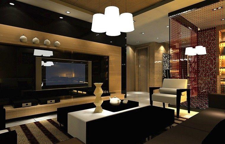 Bonito Salon Negro Diseño Moderno  Sala De Estar  Pinterest Stunning Luxury Living Room Interior Design Ideas Design Inspiration