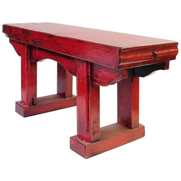 Rustic Red Chinese Wood Table Stand 98 Liked On Polyvore Featuring Home Furniture Tables Accent Tables Wooden Accent Table Wood Accent Table Wood Table