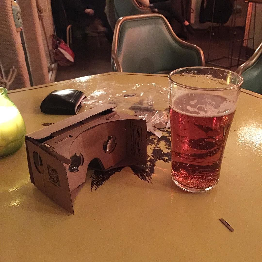 An awesome Virtual Reality pic! Ný leikföng - nýr heimur! #googlecardboard #vr #virtualreality #becomingvirtual #wip #installation by userarnar check us out: http://bit.ly/1KyLetq