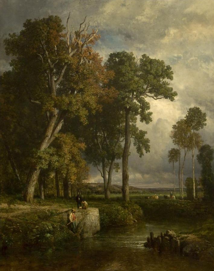 Constant Troyon (Fr. 1810-1865), Les Pêcheurs, huile sur toile, 161 x 130cm, Lisbonne, Calouste Gulbenkian Museum