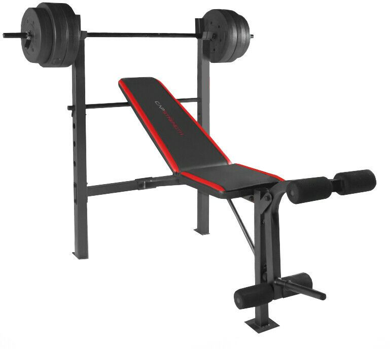 Ad Ebay Weight Bench W Weights Set 100lb Bar Press Barbell Dumbbell Set Home Gym Workout Weight Benches Weight Bench Set Weight Set