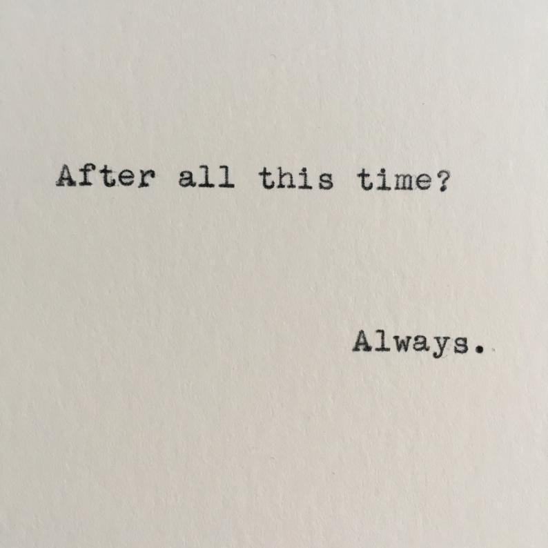 Harry Potter Always Quote (Severus Snape) Typed on Typewriter