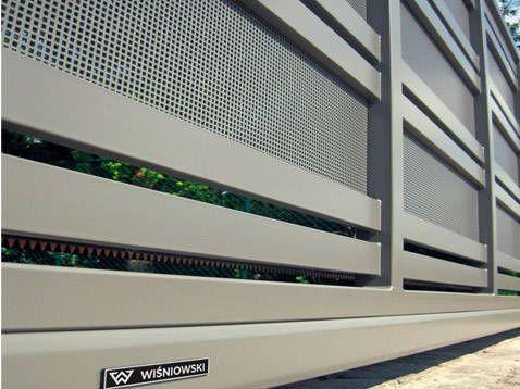 Sliding Gate Metal Bar Panel Modern System Wisniowski Sliding Gate Gate Designs Modern Gate Design