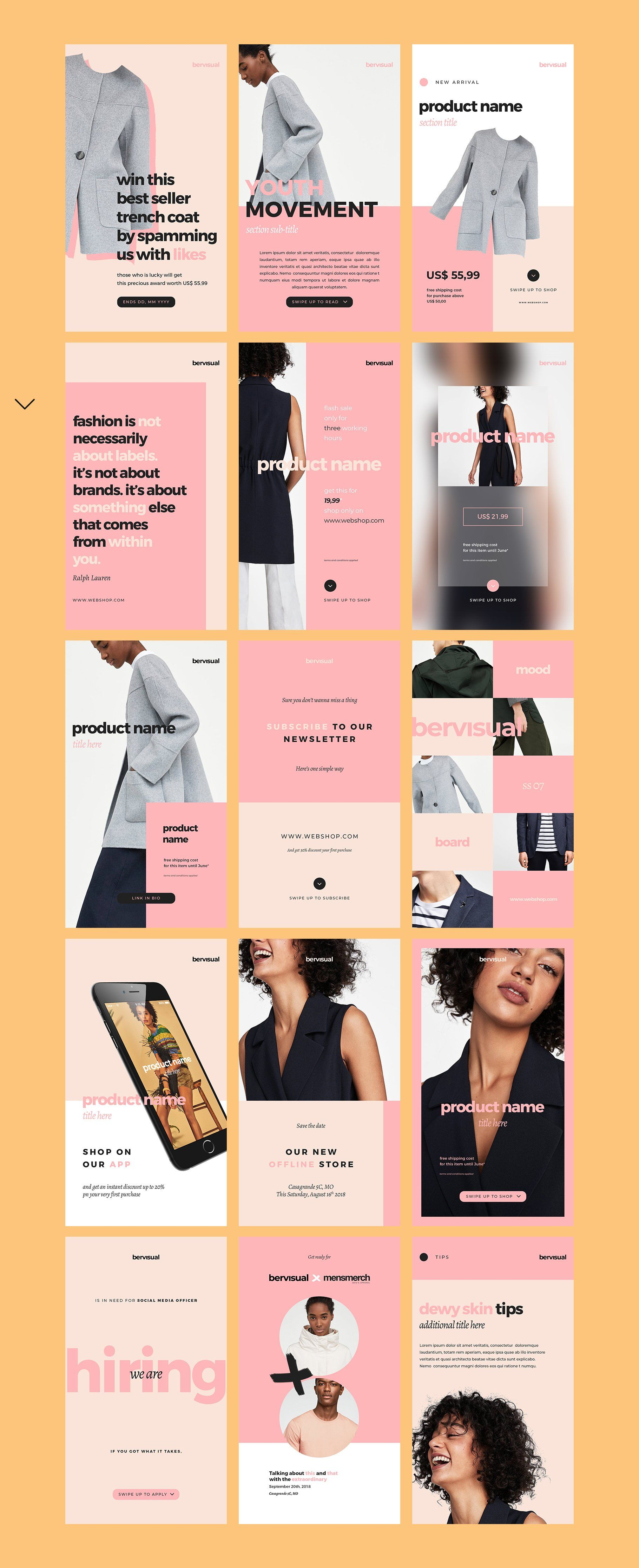 Animated Instagram Stories Template by Bervisual on