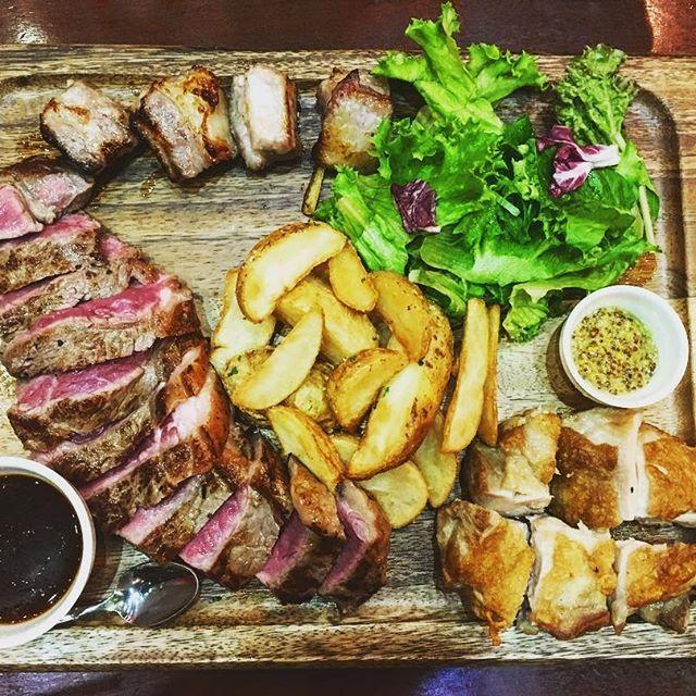 間違いないやつ。お肉さいくーー。 #肉#バルみたいなとこ#おしゃプレート#誰か旅いこ#ほんとに