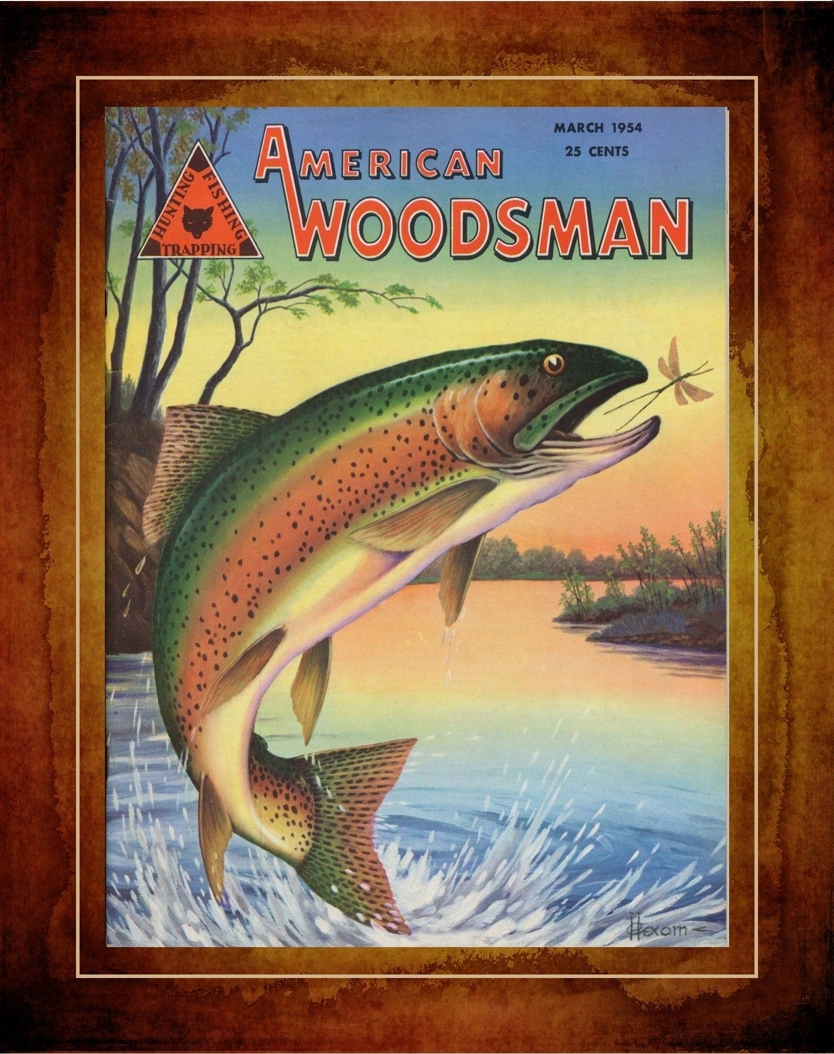 Vintage Fishing Guide Illustrated Poster FISH PRINT