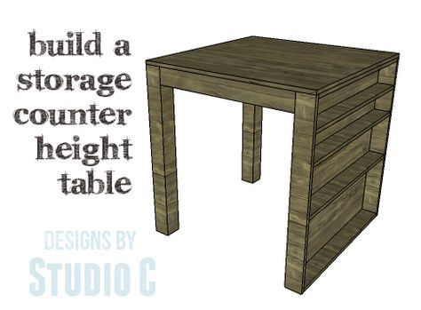Diy Plans To Build A Storage Counter Height Table This Is One Of Those Tables That Can Serve So Counter Height Table Counter Height Dining Sets Diy Table Decor How to build a counter height table
