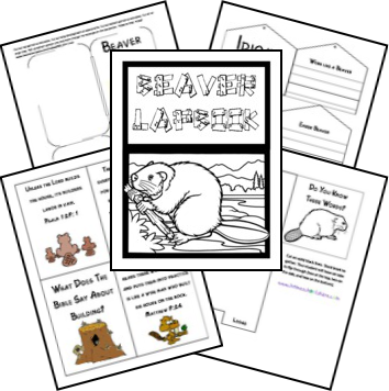 Beaver Unit Study and Lapbook; matches The Burgess Animal
