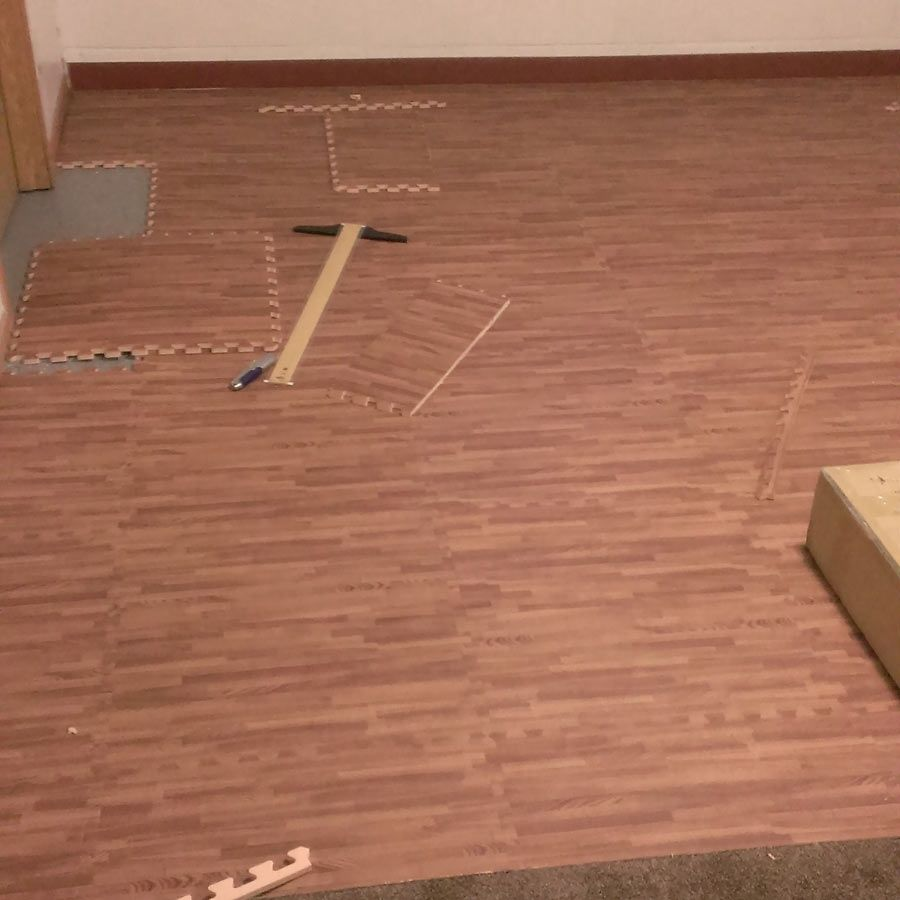 Faux wood foam floor tiles dreamhomesbyrob pinterest