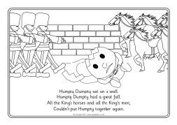 humpty dumpty colouring sheets sb320 sparklebox my school