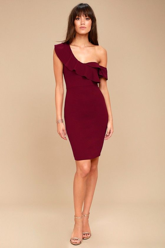 Give Me A Beat Burgundy Off The Shoulder Bodycon Midi Dress The