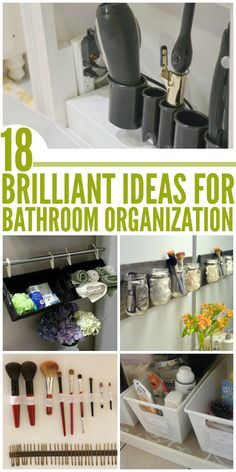 """A place for everything and everything in its place"". Cute bathroom organization ideas to make life a little easier."