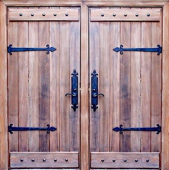 Double Entry Rustic Gate Design One Panel Knotty Alder