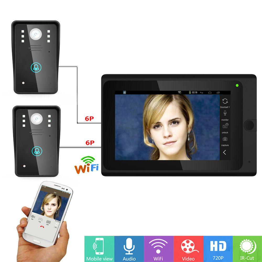 Wired Wifi Ip Video Door Phone Doorbell Intercom Entry System With