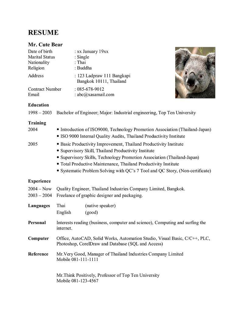 Resume Work And Travel Pantip | Viewsummer co