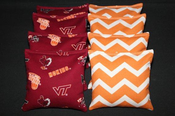 8 Cornhole Bean Bags Virginia Tech Hokies Vt