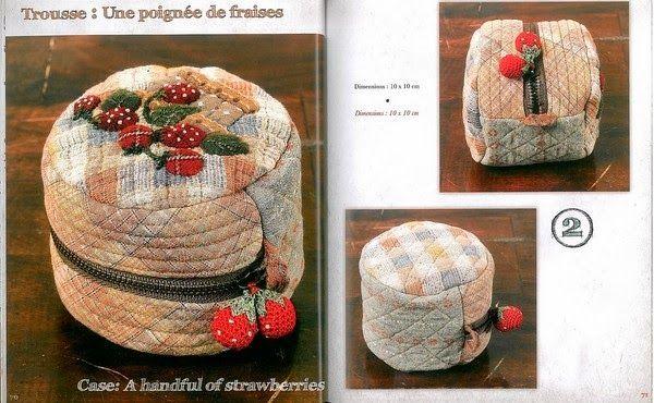 Книга по японскому печворку My Dream Quilts - сумки, косметички, схемы, выкройки, аппликация! Bags, cosmetic patchwork