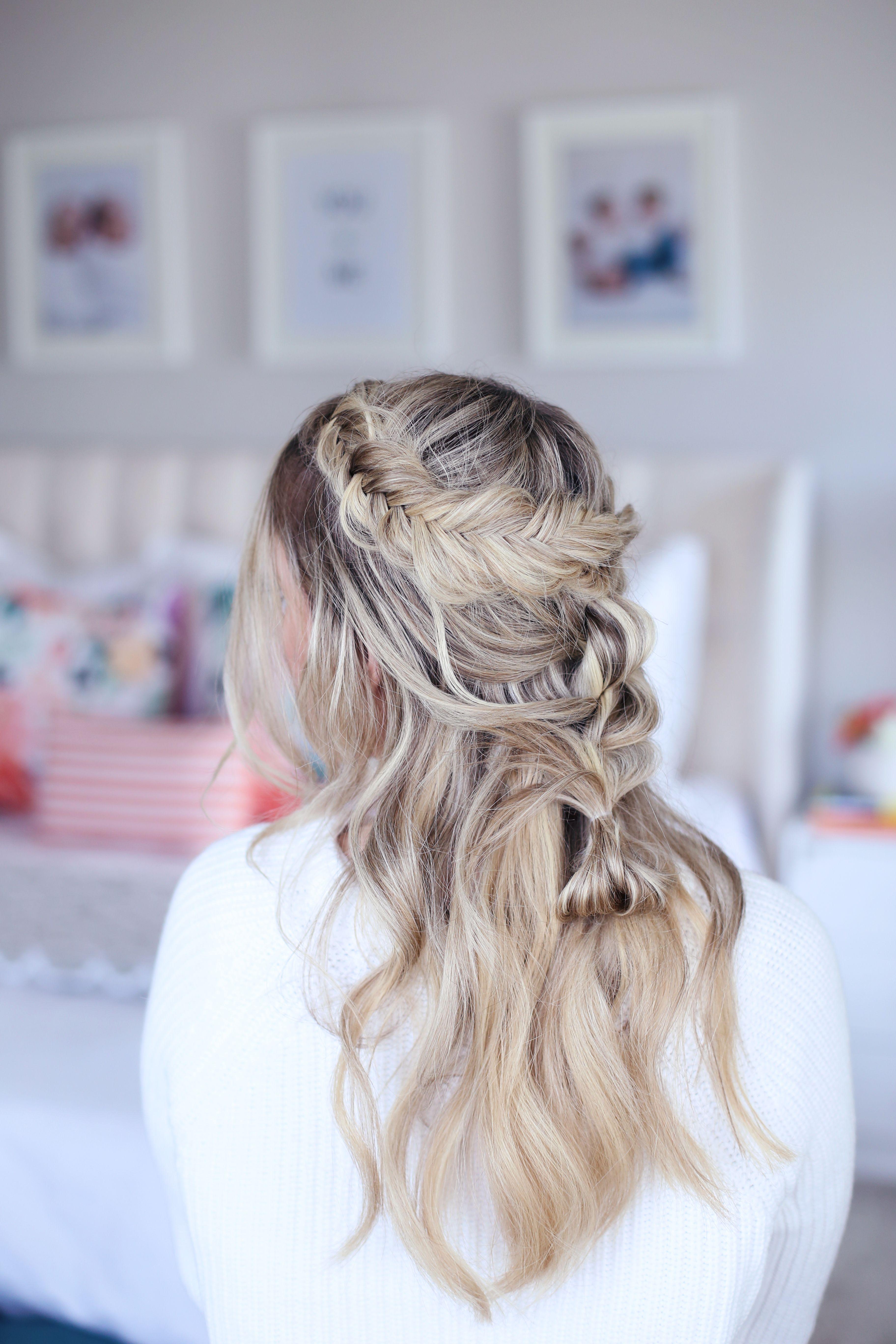 Mixed braid half up hairstyles ideas pinterest hair styles