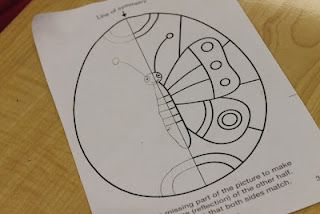 Drawing Lines Of Symmetry Worksheet : Drawing symmetrical designs on easter eggs seeing symmetry