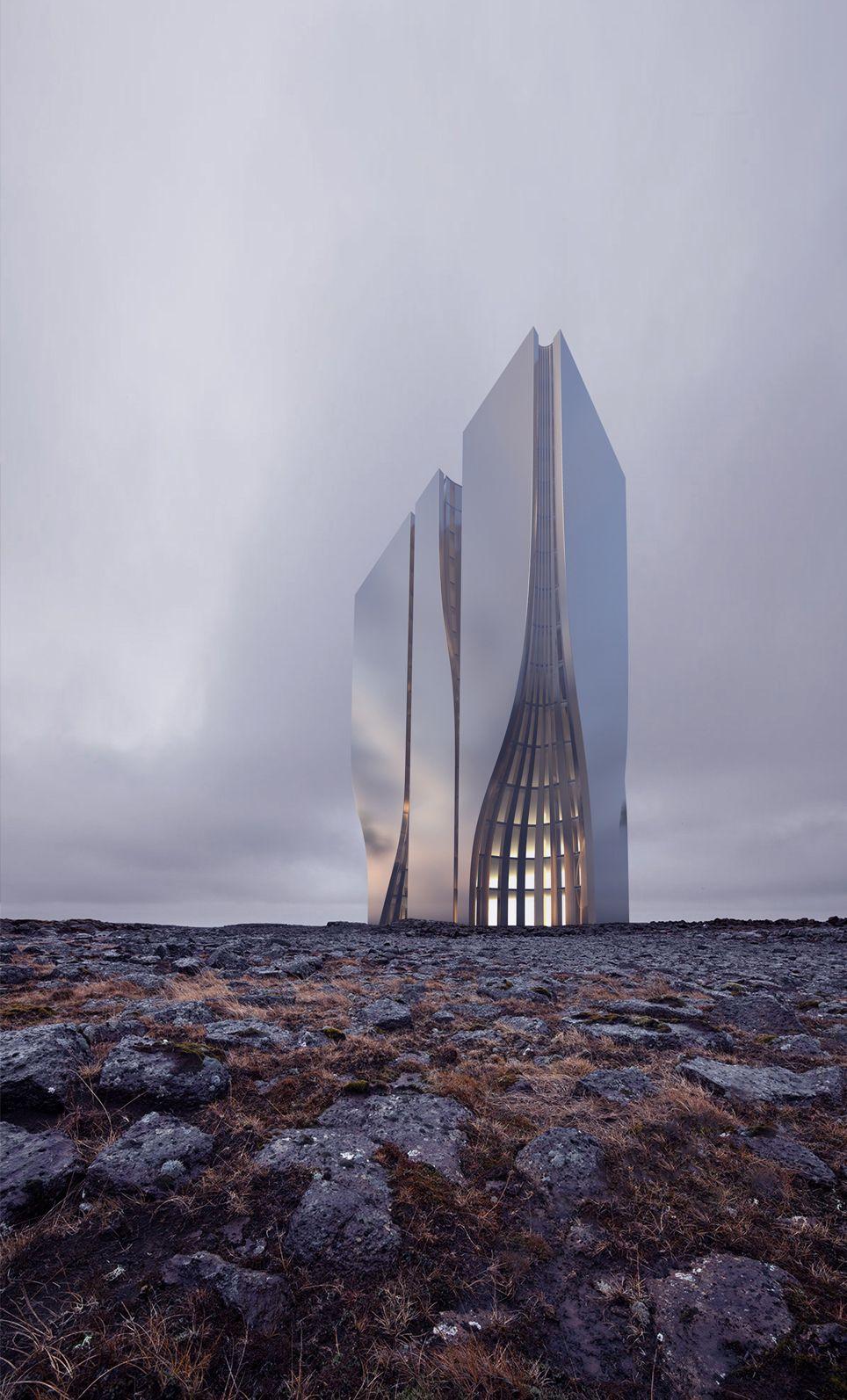 Skyscraper Concept By Roman Vlasov.