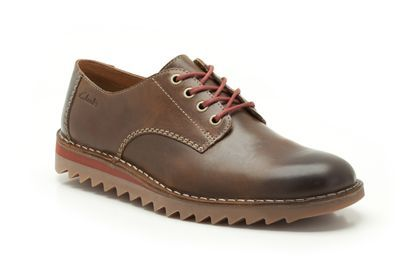 Mens Casual Shoes - Newby Fly in Tan Leather from Clarks shoes